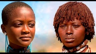 ДЕВУШКИ АФРИКАНСКИХ ПЛЕМЕН .Girls of the African tribes.