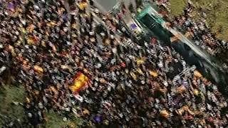 Imágenes aéreas de la manifestación en Barcelona a favor de la unidad de España