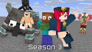 Monster School : Season 3 - Minecraft Cartoon Animation
