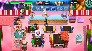 Diner dash 163 | Candy Carnival | Use jukebox on 12 people | How to get 3 stars | Energetic Winnings
