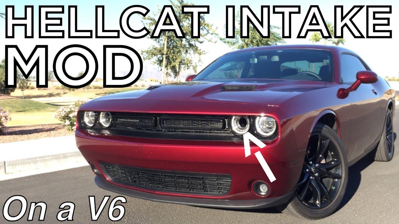 d46ff51e1fb aFe HELLCAT Headlight Intake Tube Install on My 2017 Dodge Challenger V6