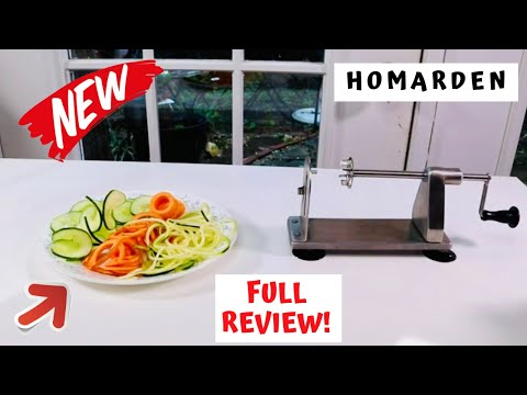HOMARDEN    ❤️  Stainless Steel Vegetable Spiralizer - Review     ✅