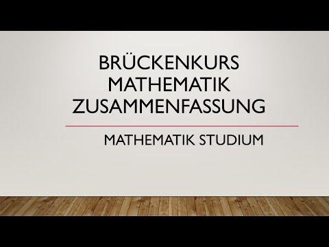 Brückenkurs Mathematik Zusammenfassung   Uni Regensburg