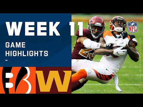 Bengals vs. Washington Football Team Week 11 Highlights | NFL 2020