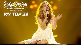 Eurovision 2013 | My Top 39