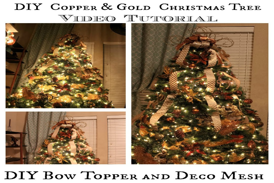 High Quality How To Decorate A Christmas Tree, DIY Bow Topper And Deco Mesh Tutorial    YouTube