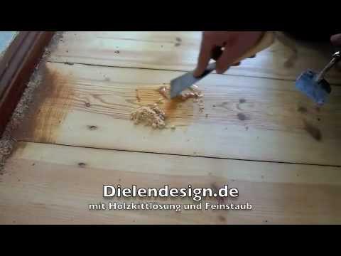Holzfußboden Spachteln ~ Nagellöcher verspachteln beim schleifen von dielen youtube