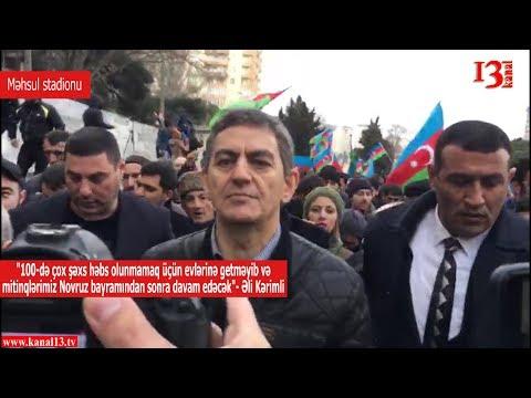 """""""100-də çox insan həbs olunmamaq üçün evlərində gecələməyib""""-Əli Kərimli"""