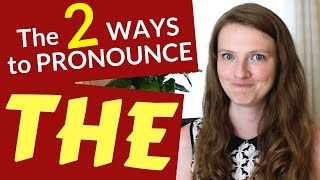 """HOW to PRONOUNCE """"THE"""" in ENGLISH"""