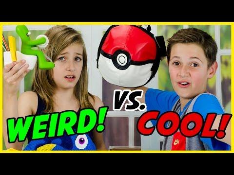 WEIRD vs. COOL SCHOOL SUPPLIES TEST! BACK TO SCHOOL HAUL! POKEMON GO,  LEGO, FINDING DORY