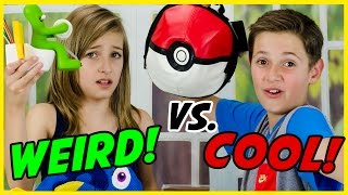 WEIRD vs. COOL SCHOOL SUPPLIES TEST! BACK TO SCHOOL HAUL! POKEMON GO,  LEGO, FINDING DORY
