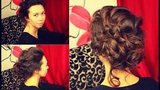 СВАДЕБНАЯ ПРИЧЕСКА на средннюю длину(В этом видео я покажу вам как сделать вечернюю или свадебную прическу на средннюю длину волос. Пишите комме..., 2015-01-26T15:28:07.000Z)