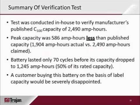 The importance of deep-cycle battery test data and certifications and how to interpret them