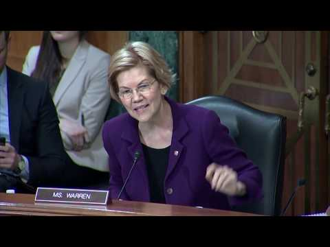 Senator Warren Questions CFPB Director Kraninger About Lack of Enforcement Action