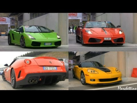 LOUD Supercar Sounds - 599 GTO vs 458 vs LP570-4 & More!