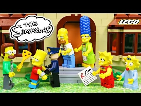 Lego Simpsons Bart Goes to Jail! The Simpsons House Legos Li