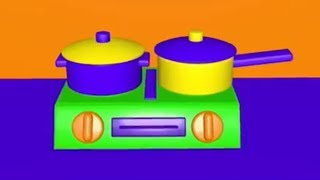 Toy stove cooking alphabet soup pasta learning animation video for kids