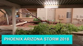 Phoenix, Arizona Storm | August 12 2018 | Rain and Sand Storm