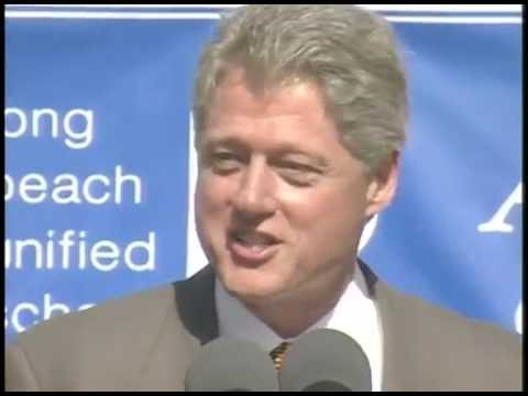 President Clinton at Jackie Robinson Academy (1996)