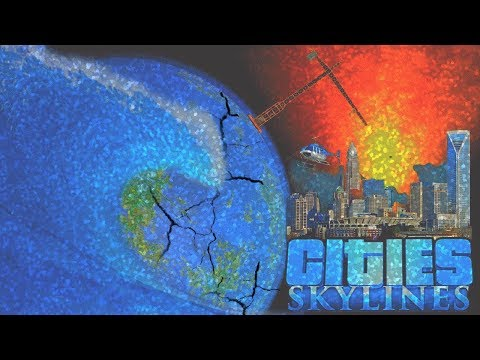 MAGNITUDE 25 TSUNAMI SHATTERS LOS VOOPERIS! - Cities Skylines [Los Vooperis] #33