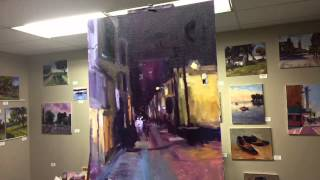 Day 4 Nocturnal oil painting demo | Milwaukee Alley Nocturne