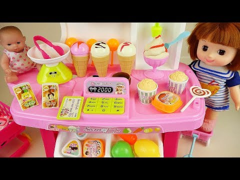 Baby doll Ice cream and kitchen food shop toys play