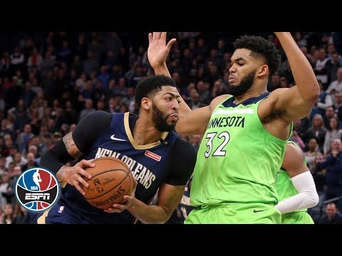 Karl-Anthony Towns Grabs  27 Rebounds Vs. Anthony Davis, Pelicans | NBA Highlights
