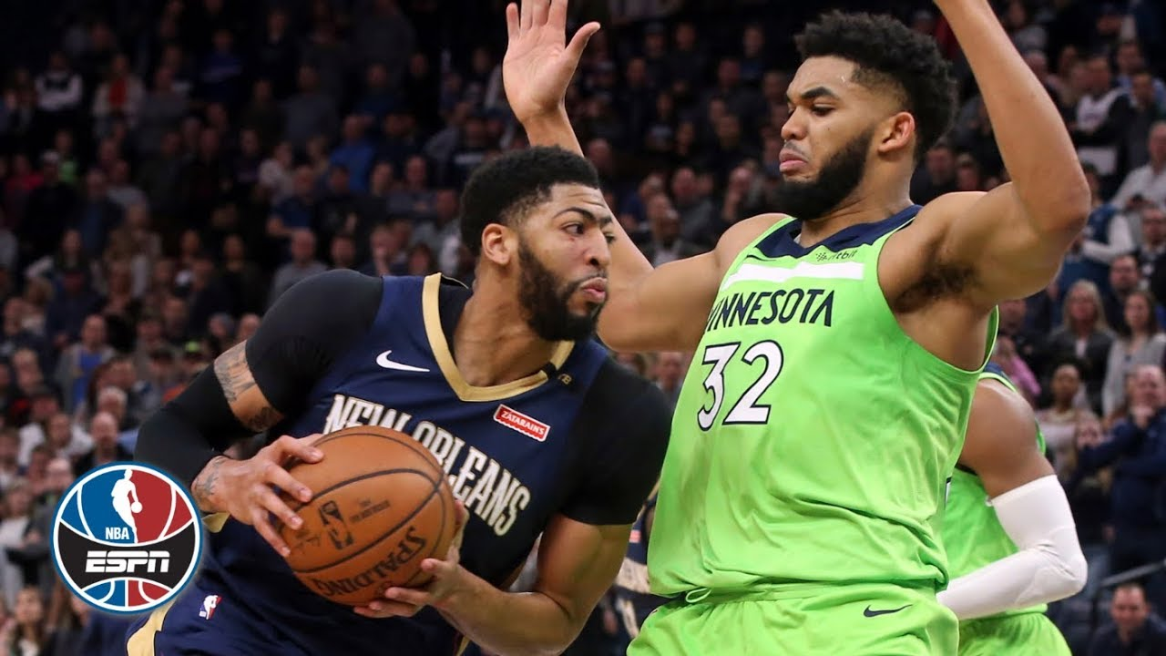 Karl-Anthony Towns sets NBA season high in rebounds vs. Anthony Davis, Pelicans | NBA Highlights