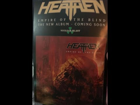"""HEATHEN announced new album will be titled """"Empire Of The Blind"""" out in 2020 ..!"""