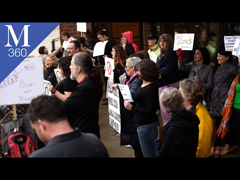360 Experience: Protest outside of Senator Roy Blunt