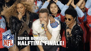 Coldplay, Beyoncé & Bruno Mars Epic Ending to the Super Bowl 50 Halftime Show | NFL