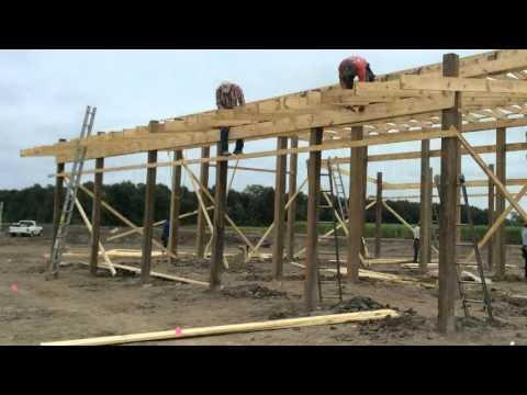 Rob Bilt Pole Barn 10 05 2015 Youtube
