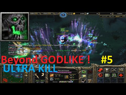 DotA 6.83d - Nevermore, Shadow Fiend Beyond GODLIKE ! (ULTRA KILL) #5