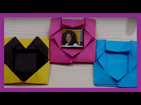 How To Make A Paper Heart Photo Frame    Origami Paper Heart Photo Frame    Activity for Kids