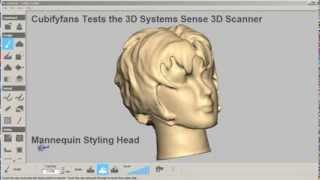3D Systems Sense 3D Scanner - Test Using Styling Head