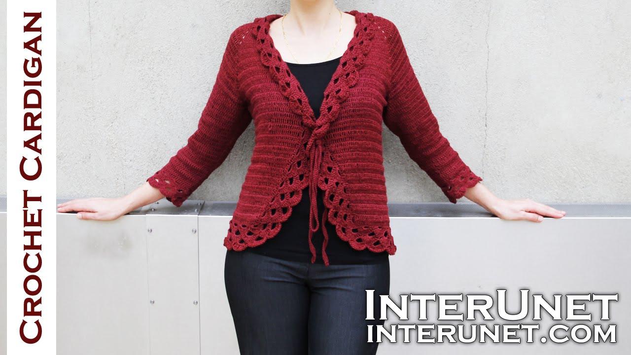 Crochet triple stitch cardigan jacket. Part 1 of 2 - YouTube
