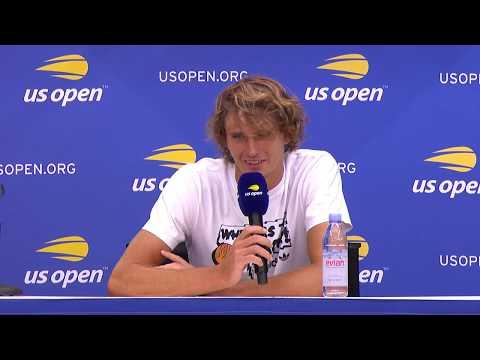 Alexander Zverev at US Open Media Day