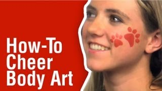How-To Cheer Face Paint using Tulip Body Art