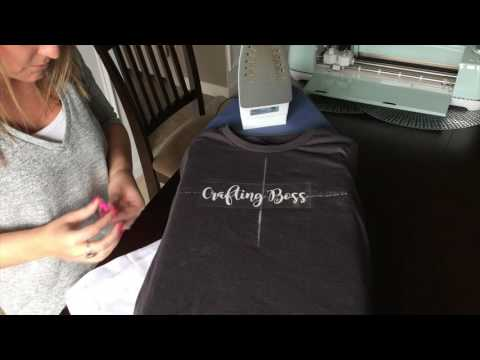 How To Make An Iron-on Tshirt With Cricut And Heat Transfer Vinyl HTV