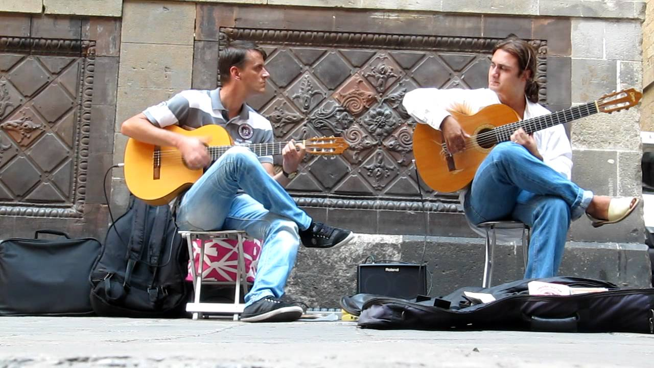 playing music on the street