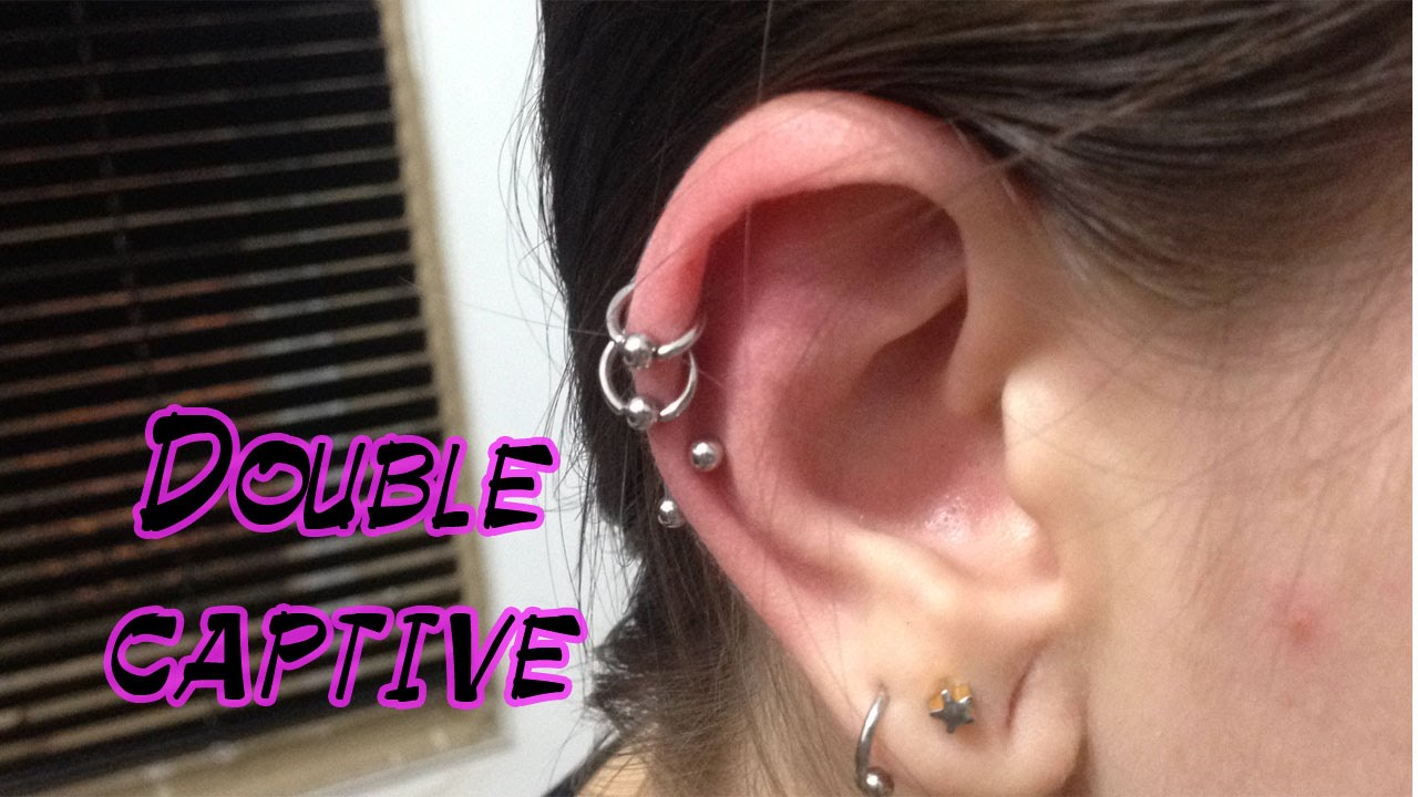 Double Captive Piercing Orelha Youtube