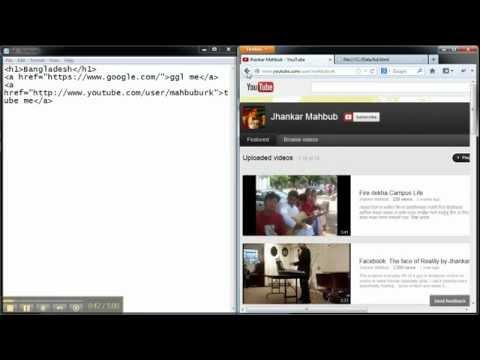 Create Website in 5 min (Bangla) (Basic Website Part -1)