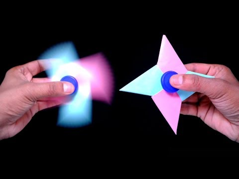 How to Make a Paper Fidget Spinner WITHOUT BEARINGS-Easy Invention