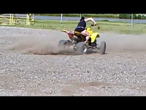 Hot chick donuts  four wheeler Atv ltz400 bullet proof how to Ks Badlands
