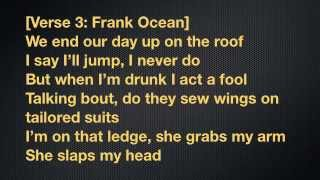 Frank Ocean Ft Earl Sweatshirt- Super Rich Kids (lyrics)