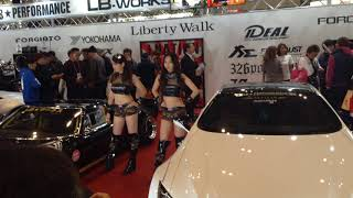 1 of 3 Videos of Liberty Walk Girls in Tokyo Auto Salon 2018 commen...