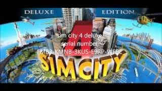 SIM CITY 4 DELUXE EDITION SERIAL NUMBER WORKING 100%