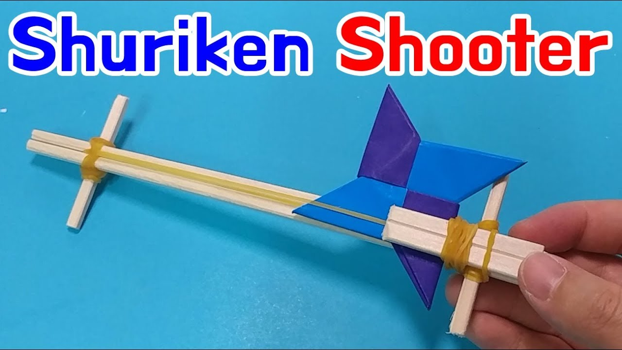 Shuriken Gun How To Make Origami Ninja Star Shooter
