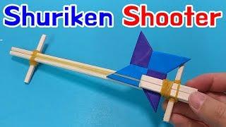 [Shuriken Gun] How to make Origami ninja star Shooter