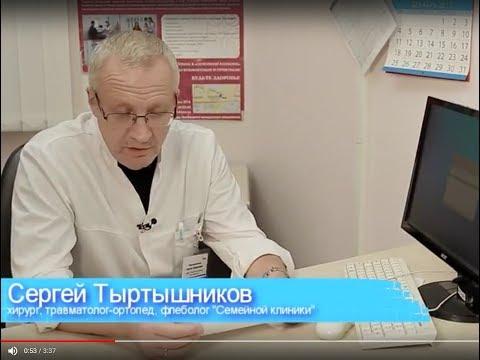 Сергей Тертышников Врач хирург,травматолог, флеболог, ортопед в программе ЗОЖ на Первом городском ка